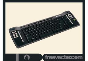 Schwarze PC-Tastatur vektor