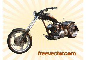 Harley chopper vektor