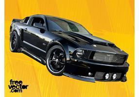 Schwarzes GT Auto vektor