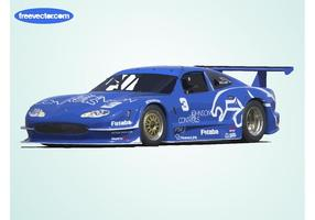 Blå jaguar racerbil