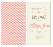 Baby-Dusche-Einladungs-Vektor
