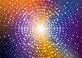 Circular Disco Light Background Vector