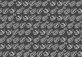Kreide Drawn Sushi Vektor Muster