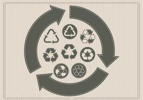 Retro Recycling-Vektoren vektor