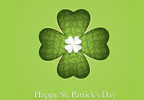 Cutout Clover Glad St Patrick's Day Vector