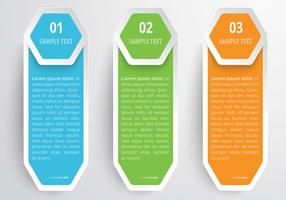 Hexagons Banners Vector Set