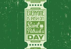 Irländsk St Patrick's Day Vector