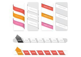 Kreative Navigation Vektor-Set