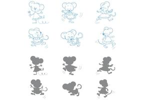 Tanzende Mäusevektoren