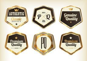 Guld premium badge vektorer