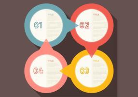 Fyra steg Infographic Vector
