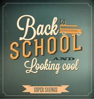 Tillbaka till skolan Bakgrund Vector