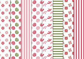 Blumenstreifen Vektor Muster