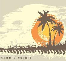 Grunge Sommer Hintergrund Vektor