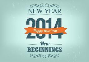 Retro Neujahr Hintergrund Vektor