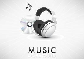 Musik Hörlurar Bakgrund Vector