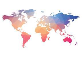 Polygonal världskarta vektor