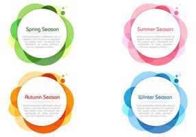 Säsongsbundna färger bubbla banners psd vektor