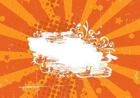 Grunge Orange Sunburst Vector Bakgrund