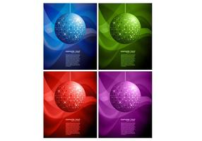 Disco Ball Backgrounds Two Vector