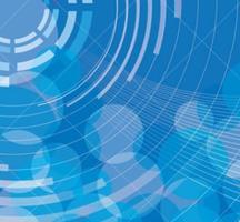 Blå abstrakt cirkel bakgrundsvektor