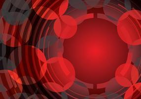 Röd abstrakt cirkel bakgrundsvektor