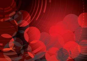 Red Abstract Circle Hintergrund Zwei Vektor