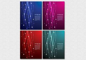 Glowing Lines Hintergrund Vektor