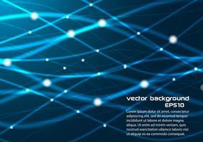 Blue Glowing Lines Hintergrund Vektor
