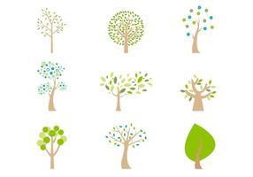 Abstrakt Cartoon Bäume Vector Pack