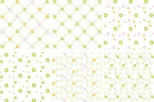Grüne Blumen Vektor Pattern