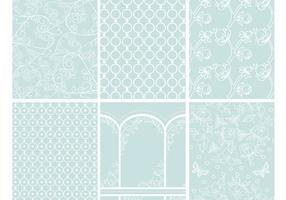 Romantische Muster Hintergründe Vector Pack