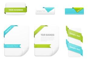 Stylish Ribbon Wrapped Banners Vector Set