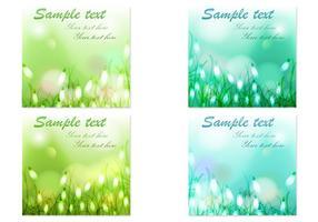 Bokeh Blumen Hintergrund Vektor Set
