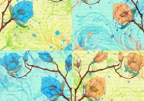 Skript und Blume Hintergründe Vektor