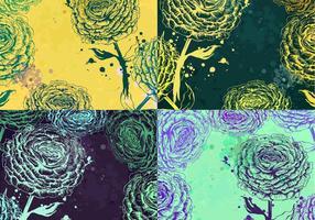 Splattered Rose Backgrounds Vector