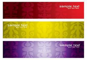 Färgglada Mönstrade Banners Vector Pack
