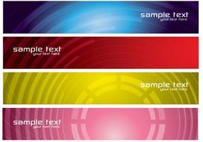Zusammenfassung Tech Banner Vector Pack