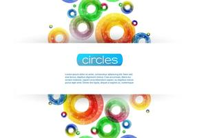 Sparkly Circle Bakgrund Vector