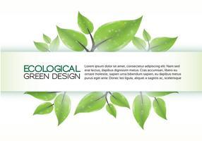 Grön Eco Banner Bakgrund Vector