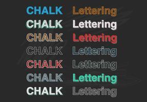 Chalk Lettering Vector