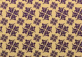 Purpur und Goldornamentaler Vektor kopierter Hintergrund