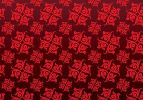 Red Ornamental Vector Mönstrad Bakgrund