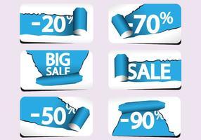 Torn Paper Sale Labels Vector Pack