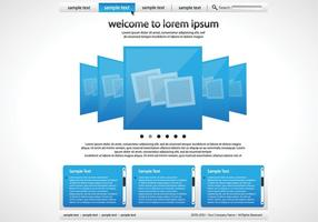 Simple Blue and White Website Vector Template