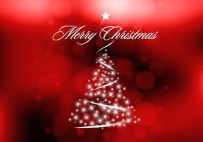 Red Sparkly Weihnachtsbaum Vektor