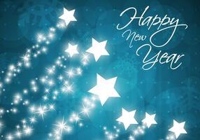 Star gefüllt Happy New Year Vektor Hintergrund