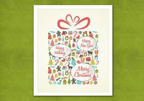 Retro Sprechblase Weihnachtsgeschenk Vektor