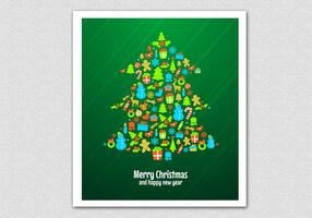 Green Christmas Tree Vector Background