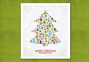 Bokeh Christmas Tree Vector Background